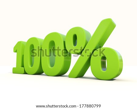 One hundred percent off. Discount 100%. 3D illustration. - stock photo