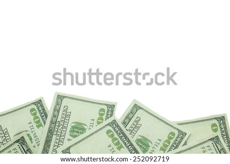 One hundred US dollar isolated on white background - stock photo