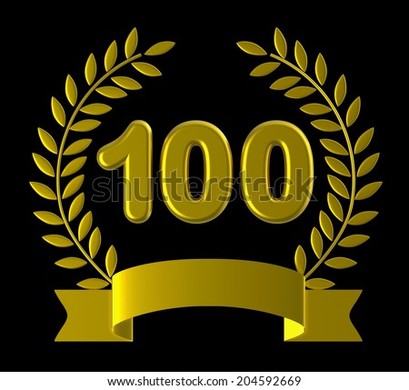 One Hundredth Representing Happy Anniversary And Remembrance - stock photo