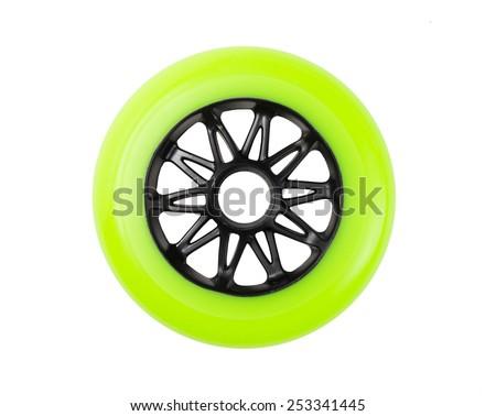 One inline skate wheel for speedskating - stock photo