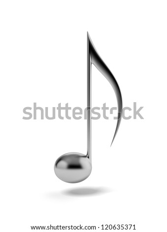 One iron music note - stock photo