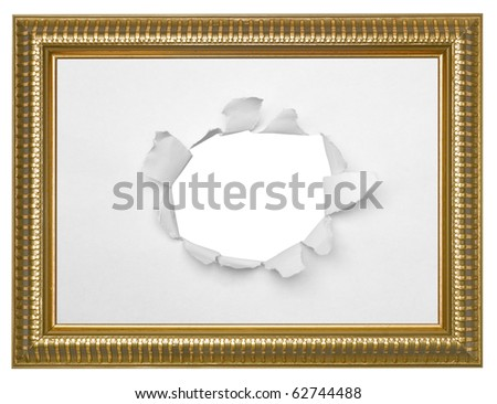 one isolated frame on the white backgrounds - stock photo