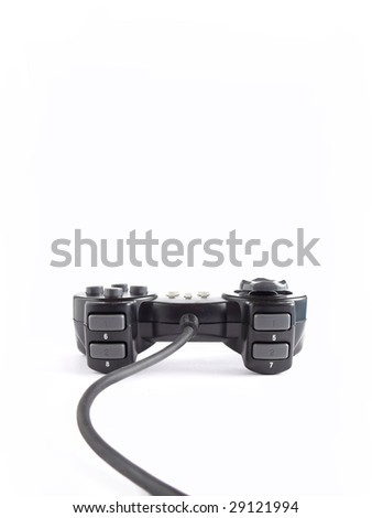 one joypad isolated on white background - stock photo