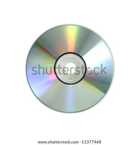 One laser disk isolated on a white background - stock photo