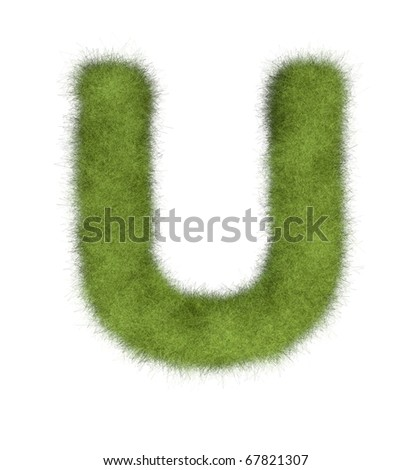 One letter of Grass Alphabet