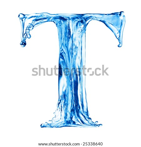 One letter of water alphabet
