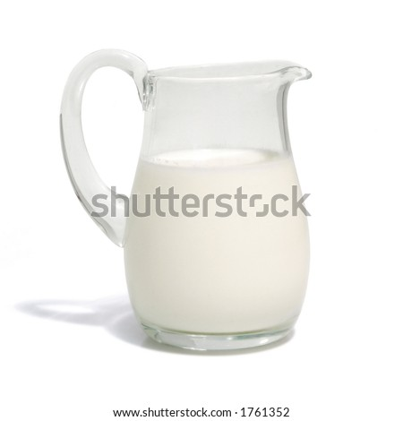 One liter milk (w clipping path)