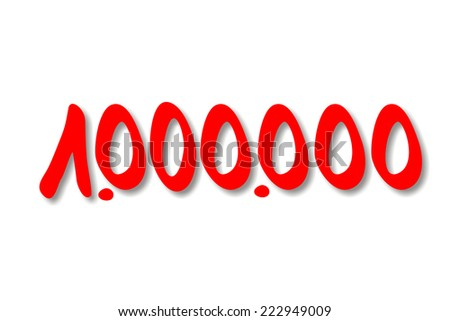 one million - stock photo