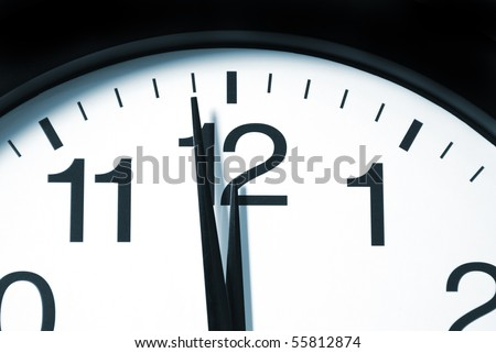 One Minute to 12 - stock photo