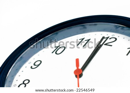 One minute to midnight - stock photo