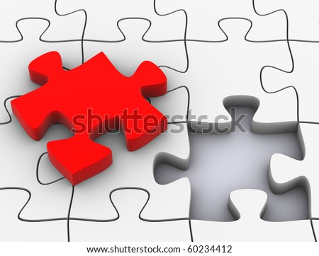 One more Puzzle to complete - stock photo