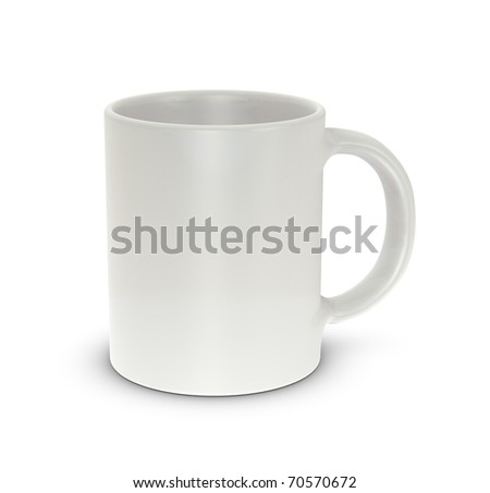 One mug cup with blank space for general purpose - stock photo