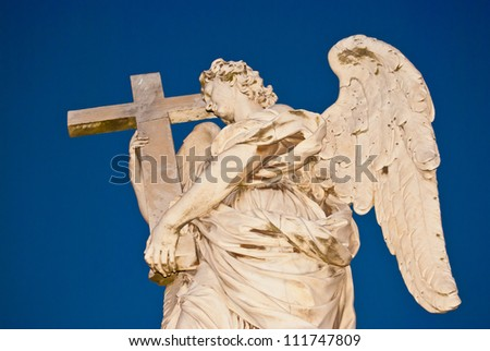 one of the angels of the Ponte Sant Angelo in Rome