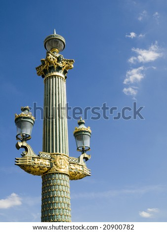 One of the beautiful lamps of the Concorde Square