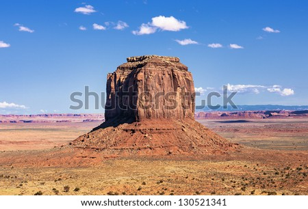 one of the famous rocks at Monument Valley, USA - stock photo