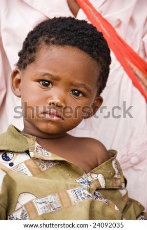 One of the few remaining Basarwa, San, or simply Bushman, the indigenous people of Kalahari. - stock photo