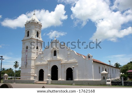 One of the first churches in the American Continent, Pacific side - stock photo