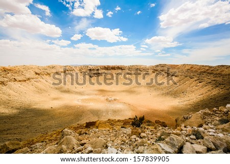 one of the huge meteorite craters on earth, somewhere in California... Photos from my month tour of America - stock photo