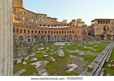 One of the many ancient historical places to see in the city of Rome