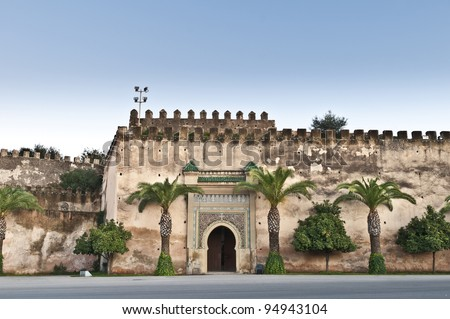 One of the many doors within the Imperial City at Meknes Morocco & One Many Doors Within Imperial City Stock Photo 94943104 - Shutterstock