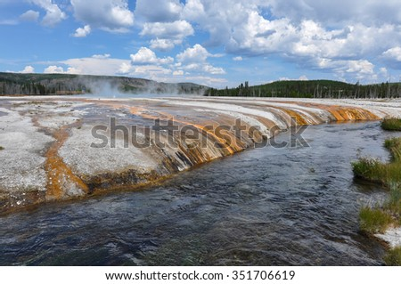 One of the many scenic landscapes of Yellowstone National Park, Wyoming, USA.