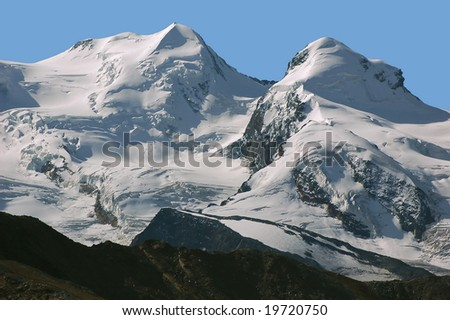 One of the most elegant summits in the area around Zermatt which contains many peaks over 4000m. the Strahlhorn