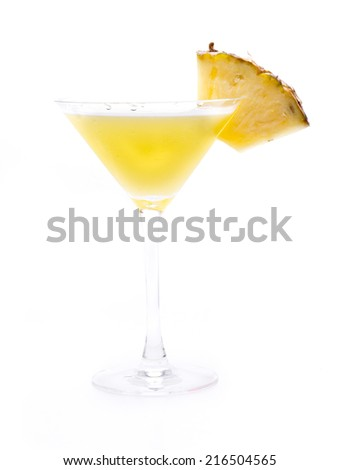 one of the most famous cocktails in the world, the daiquiri - stock photo
