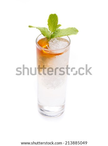 one of the most famous cocktails in the world, the Gin & Tonic - stock photo
