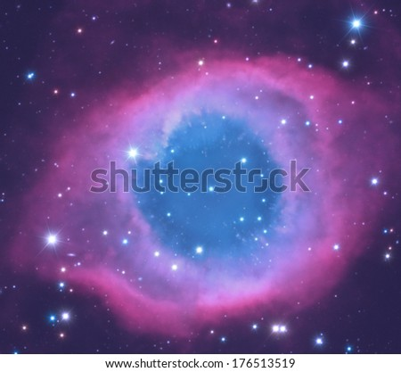 One of the most famous nebula's in the night sky called 'Helix'. - stock photo