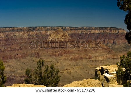 One of the overlooks in grand canyon national park is called Lipan overlook. - stock photo