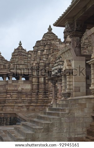 One of the temples of the western group in Khajuraho, India