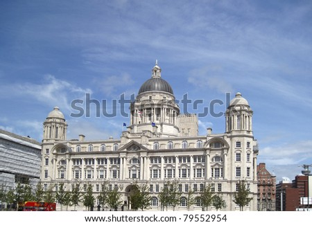 One of the Three Graces, Liverpool - stock photo