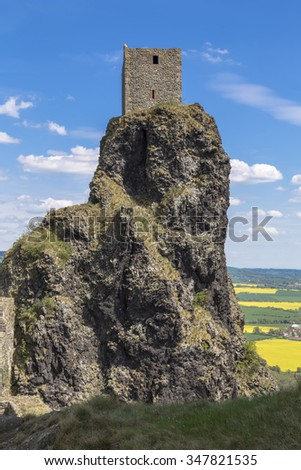 One of the towers of Trosky castle in Bohemian Paradise