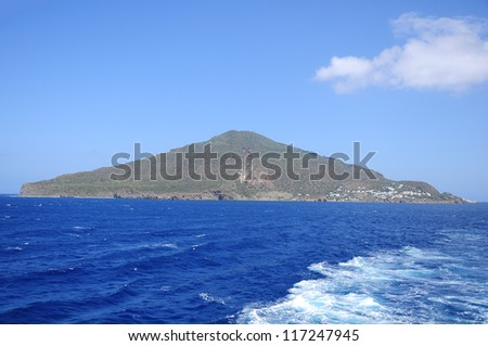 One of volcanic Lipari islands. Italy.