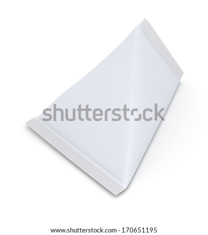 one package, blank for customization (3d render) - stock photo