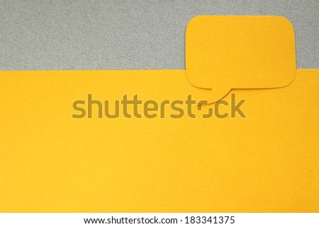 One paper dialog box on gray background with blank empty copy space - stock photo