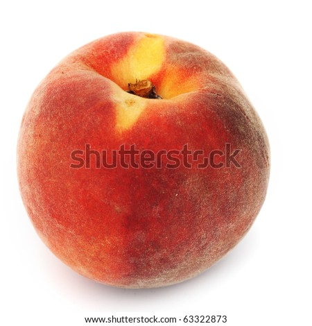one peach - stock photo