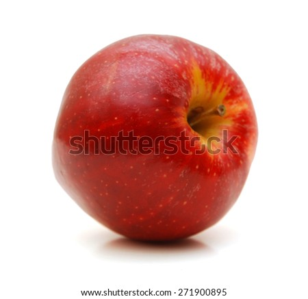 One red apple in closeup - stock photo