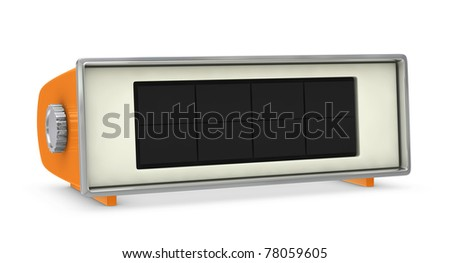 one retro digital clock with empty space (3d render) - stock photo