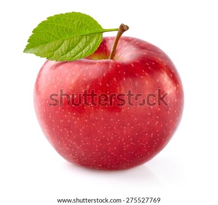 One ripe apple - stock photo