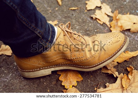 One shoe - stock photo