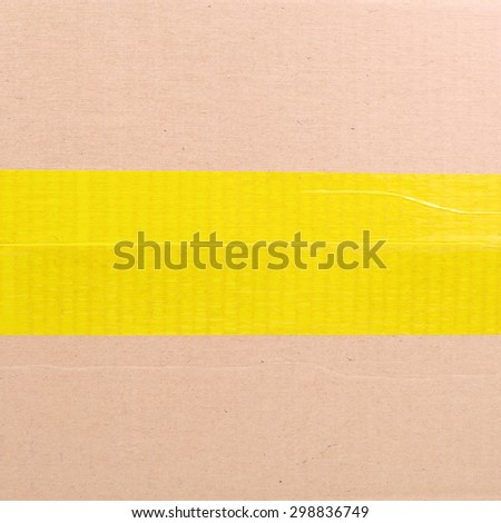 one side of a package box - stock photo