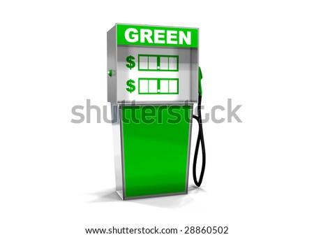 One Single Gas Pump - stock photo