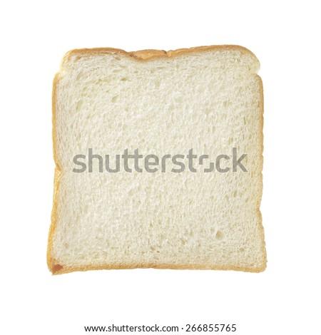One slice of bread - stock photo
