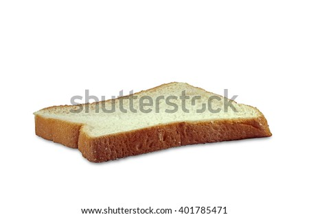 one sliced bread isolated on white background - stock photo