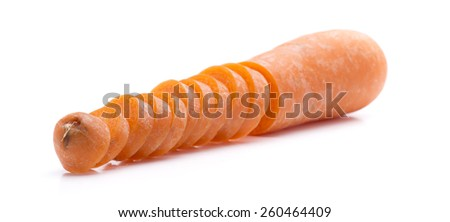 one sliced carrot cut into many - stock photo