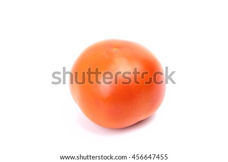 One small tomato isolated on white background - stock photo