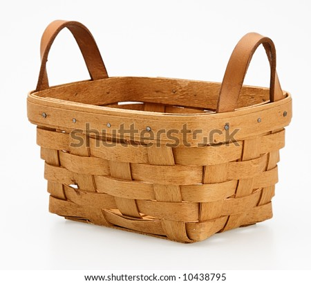 one small wicker basket detail handmade collectable - stock photo
