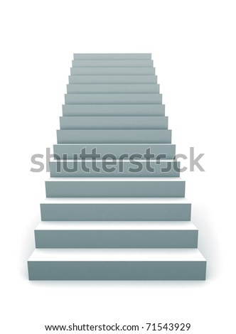 One Staircase 3D illustration