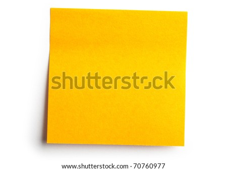 One sticker on white background - stock photo